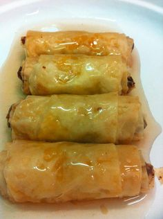 Baklava Rolls (Sourota)_In honor of Greek Independence Day, we decided to make one the most famous and traditional Greek desserts we could think of... baklava! And were not talking just regular run-of-the-mill baklava in a pan or in triangles, which is typically how you will find it. We made baklava rolls! Baklava rolls are known as sourota in Greece. It makes eating the baklava easy and fun.