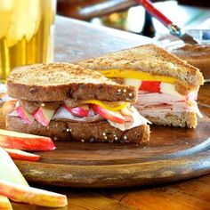 Grilled Autumn Harvest Turkey Sandwich
