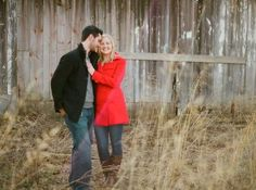 Image Detail for - Winter Engagement Photos : wedding engagement pictures outside red ...