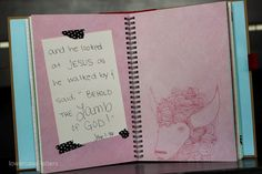 Make your own book of bible verses for your kids to memorize