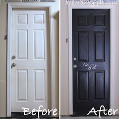 Your Garage Door Should be Beautiful Too!>> Paint it black and add some numbers since guests often enter through the garage