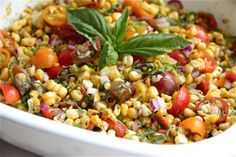blackened corn and tomato salad. yum.