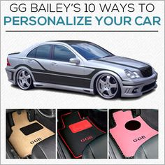 10 Ways to Personalize Your Car! Plus, you can still enter to win custom designed car floor mats. Click for details.