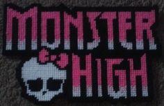 monster high logo Plastic Canvas Pattern 3.00