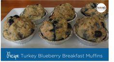 Turkey-Blueberry Breakfast Muffins