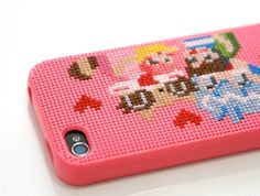 That's a really cool idea. Cross Stitch your own iPhone case.