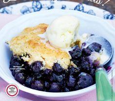 #ClippedOnIssuu from K c4nadianliving4ugust2014tru3pdf-Blueberry Cornmeal Cobbler.
