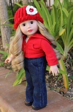 Valentines Day Outfits for American Girl are at www.harmonyclubdolls.com. We fit American Girl Dolls.