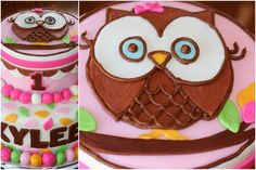 Carly's Cakes: Owl 1st Birthday