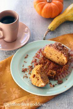 Pumpkin Streusel muffins - dairy free and gluten free.