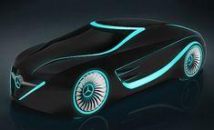Blackbird, Futuristic Sporty Car Inspired by Tron Movie