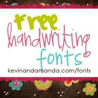 Free handwriting fonts