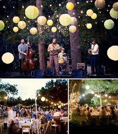 Romantic garden wedding wedding-impression-evening