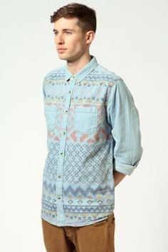 Work /// Play - this shirt works hard for you.  www.boohoo.com  #trend #menswear #denim