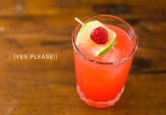 Raspberry, lime, and gin
