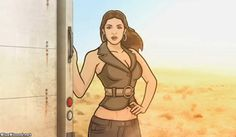 Archer S4E8: Coyote Lovely by Will Judy on Blue Blood http://ameliag.com/2013/03/archer-s4e8-coyote-lovely-by-will-judy-on-blue-blood/