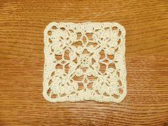 Pretty crochet square - diagram only pattern.