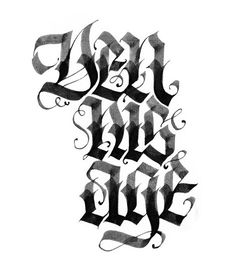 Calligraphy by SPIT , via Behance