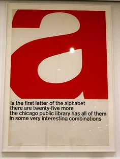 Chicago Public Library poster.