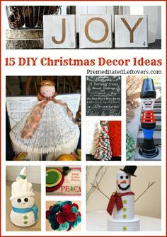 15 diy, homemad craft, christma decor, christma idea, homemade crafts, holiday decor, decor idea, kid, diy christmas