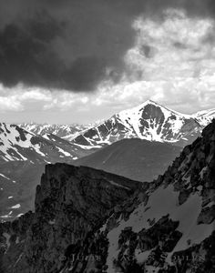 Colorado Rocky Mountains Black White Photo Art Print by JulieMagersSoulen