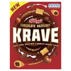 Kelloggs Krave Hazelnut Chocolate Cereal