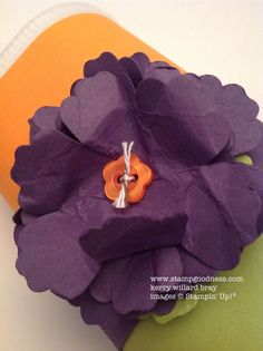 Fancy Flower gift box made from a Crystal Light Container More