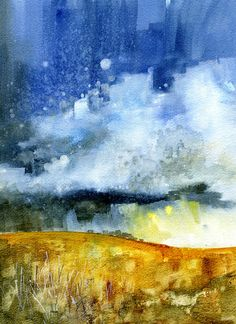 Paul Steven Bailey  A golden prospect    Watercolour  8 x 11 inches  2011