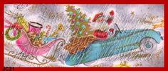 Santa Quilt Fabric Christmas Fabric Block Vintage by fabricblocks, $6.00
