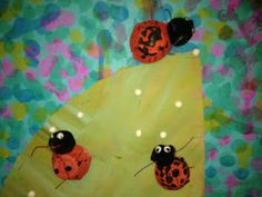 Eric Carle -The Very Grouchy Ladybug. Love the idea of using q-tips for spots.