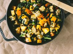 Baked Pumpkin with Tofu and Kale