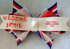 Welcome Home Military Boutique bow by ChicBoutiqueBows on Etsy, $5.00