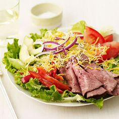 Roast Beef Fajita Salad - Turn this into a platter that everyone will love