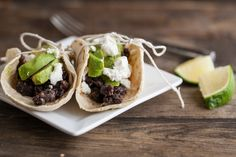 Spiced Black Bean, Grilled Avocado, and Goat Cheese Tacos.  Mmmmmmm