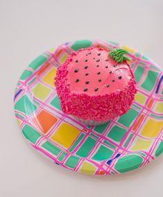 a strawberry cupcake!