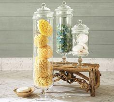 bathroom organizing jars