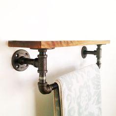 Reclaimed Industrial Towel Bar - Unique Modern Furniture - Dot Bo
