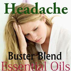 Headache Buster Blend using Essential Oils.