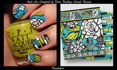 nail art inspired by Vera Bradley, Island Blooms by Beautopia Nails