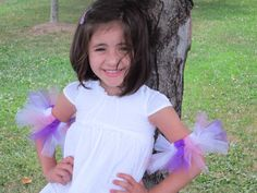 Pink Purple White Tutu Arm Ankle Band  Baby by AmericanBlossoms, $7.55