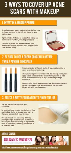 3 Ways To Cover Up Acne Scars With Makeup [Infographic]