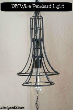 D.I.Y Wire Pendant Lighting-