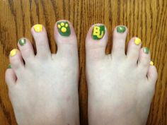 #BaylorProud, from head to toe(s)! (via vromberg on Twitter) #SicEm
