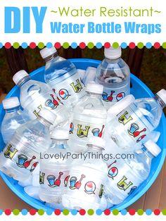 Water Bottle Wraps DIY