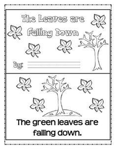Freebie emergent reader, letter matching game, leaf color graph