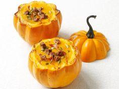 Squash Soup in Pumpkin Bowls from #FNMag #Seasonal #Veggies #MyPlate
