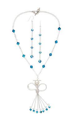 Single-Strand Necklace & Earring Set w/ SWAROVSKI ELEMENTS, Glass Pearl Bead & Wirework--Project