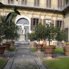 Garden of Medici Palace, Florence Italy.
