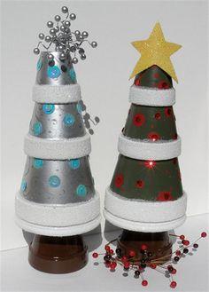 Clay Pots Christmas pots... so cute!