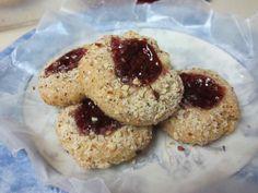 Karen's Vegan Kitchen: Mixed-Grain Hazelnut Thumbprint Cookies